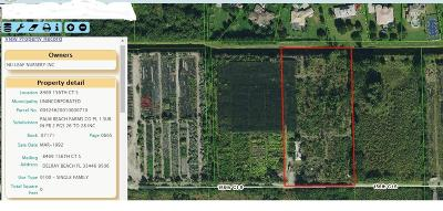 Delray Beach Residential Lots & Land For Sale: 8469 156th Court S