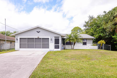 Port Saint Lucie Single Family Home Contingent: 2310 SW Wynnewood Street