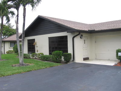 Boynton Beach Single Family Home For Sale: 4674 Greentree Place #A