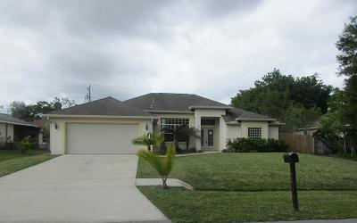 Port Saint Lucie Single Family Home For Sale: 3326 SW Frankford Street