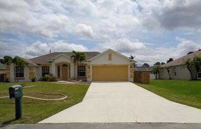 Port Saint Lucie Single Family Home For Sale: 1941 SW Logan Street