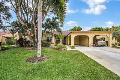 Boynton Beach Single Family Home For Sale: 6005 Forest Grove Drive #1