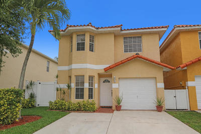 West Palm Beach Single Family Home Contingent: 182 Plumage Lane