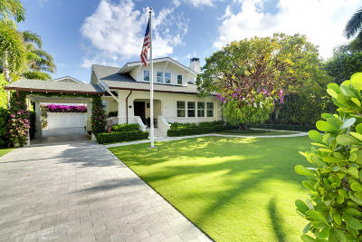 Palm Beach FL Single Family Home For Sale: $6,495,000