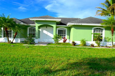 Loxahatchee Single Family Home For Sale: 15036 89th Place