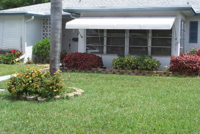 Delray Beach Single Family Home For Sale: 1207 S Drive Way #B