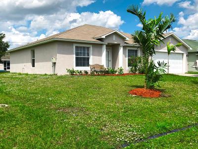 Port Saint Lucie Single Family Home Contingent: 487 SW Bradshaw Circle
