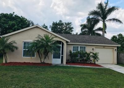 Jupiter Single Family Home For Sale: 169 Banyan Circle