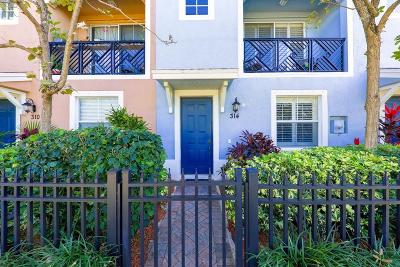 Delray Beach Townhouse For Sale: 314 NW 1st Street