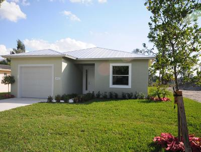 Jupiter Single Family Home For Sale: 6905 4th Street
