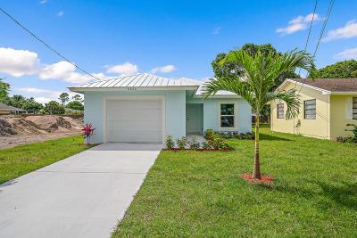 Jupiter Single Family Home For Sale: 6882 3rd Street