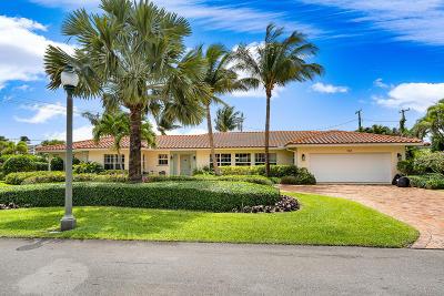 Palm Beach Shores Single Family Home For Sale: 200 Cascade Lane