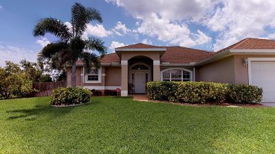 Port Saint Lucie Single Family Home Contingent: 1382 SE Appamattox Terrace