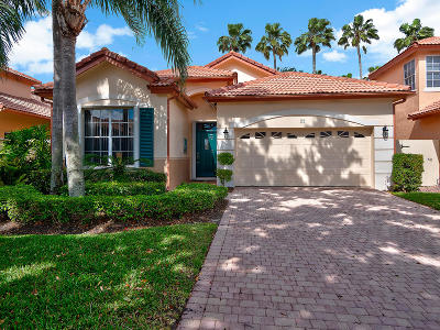 Palm Beach Gardens Single Family Home Contingent: 22 Porta Vista Circle