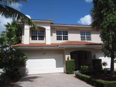 Palm Beach Gardens Townhouse For Sale: 5017 Vine Cliff Way W