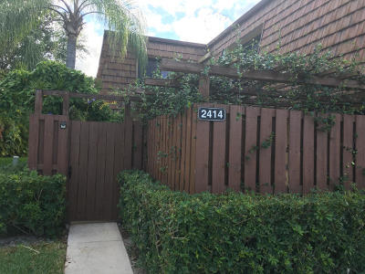 Greenacres Townhouse For Sale: 2414 24th Lane