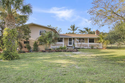 Hobe Sound Single Family Home For Sale: 9231 SE Duncan St Street