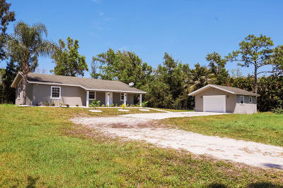 Loxahatchee Single Family Home For Sale: 16435 E Calder Drive