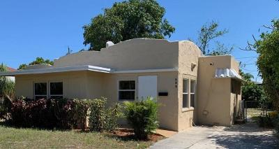 West Palm Beach Single Family Home For Sale: 508 Palmetto Street