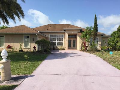 Port Saint Lucie Single Family Home For Sale: 2602 SW Fair Isle Road