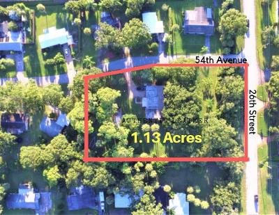 Vero Beach Single Family Home For Sale: 2450 54th Avenue