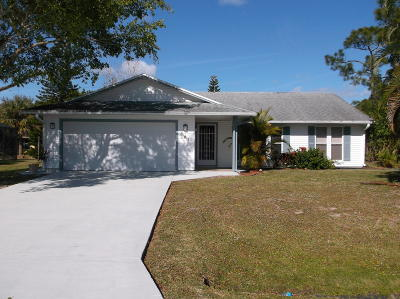 Port Saint Lucie FL Single Family Home For Sale: $214,900