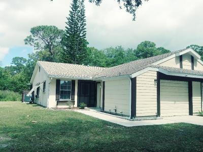 Port Saint Lucie Single Family Home Contingent: 1374 SE Rivergreen Circle