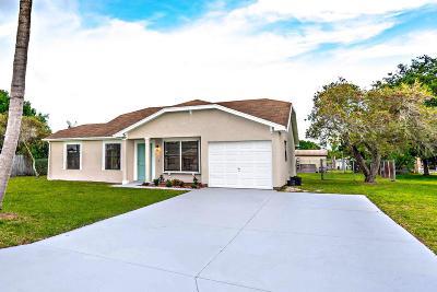 Port Saint Lucie Single Family Home For Sale: 2326 SE Rainier Road