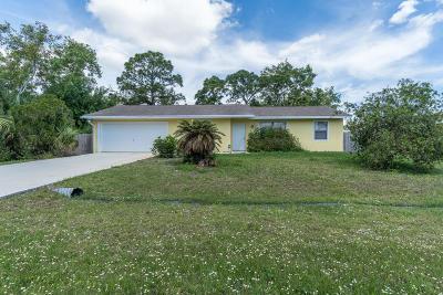 Port Saint Lucie Single Family Home For Sale: 443 SE Karney Terrace
