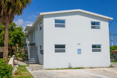 West Palm Beach Multi Family Home For Sale: 805 19th Street #1