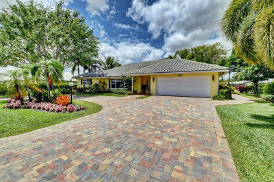 boynton beach Single Family Home For Sale: 11711 Lake Drive