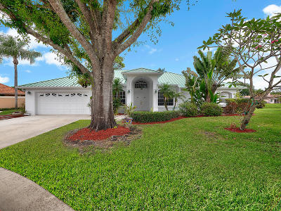Jupiter Single Family Home For Sale: 18901 Black Gum Court