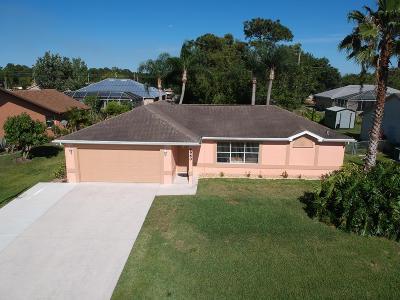 Port Saint Lucie Single Family Home For Sale: 6960 NW Hartney Way