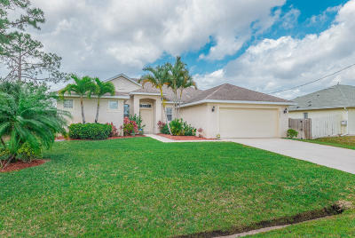 Port Saint Lucie, Saint Lucie West Single Family Home For Sale: 2834 SW Rosetta Street
