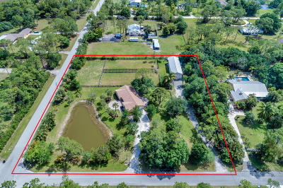 Jupiter Single Family Home For Sale: 16955 Haynie Lane
