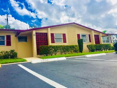 West Palm Beach Single Family Home For Sale: 2956 Crosley Drive E #C