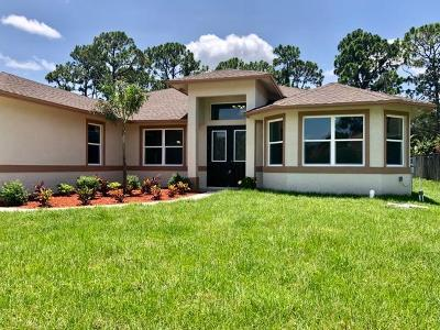 Port Saint Lucie, Saint Lucie West Single Family Home For Sale: 1934 SW Yellowtail Avenue