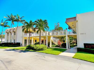 Palm Beach County Condo For Sale: 632 Snug Harbor Drive #D14
