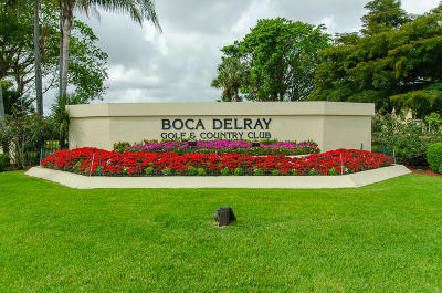 Delray Beach Single Family Home For Sale: 16637 Boca Delray Drive