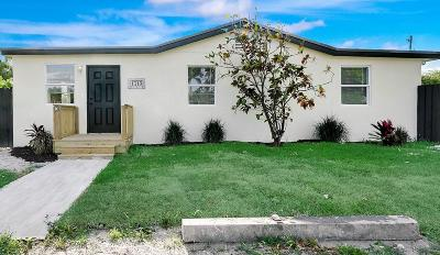 West Palm Beach Single Family Home For Sale: 1319 Rainbow Avenue
