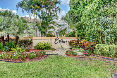 boynton beach Single Family Home For Sale: 6121 Evian Place