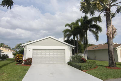 West Palm Beach Single Family Home For Sale: 1262 Pine Sage Circle