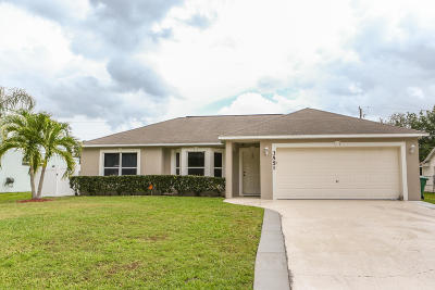 Port Saint Lucie, Saint Lucie West Single Family Home For Sale: 3551 SW Carmody Street