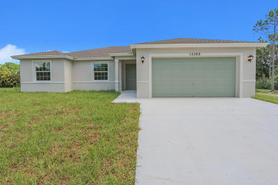 Loxahatchee Single Family Home Contingent: 15399 Tangerine Boulevard