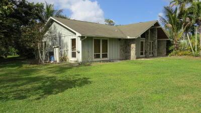 Jupiter Single Family Home For Sale: 12885 Randolph Siding Road