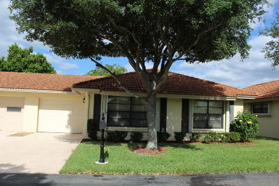 Boynton Beach Single Family Home For Sale: 4655 Laurel Tree Road #B