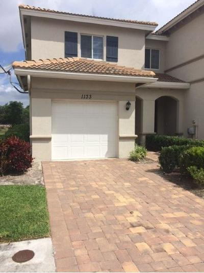 Lake Worth Single Family Home For Sale: 1133 Vermilion Drive