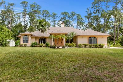 Loxahatchee Single Family Home For Sale: 15403 78th Place