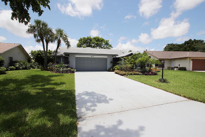 Delray Beach Single Family Home For Sale: 16673 Boca Delray Drive