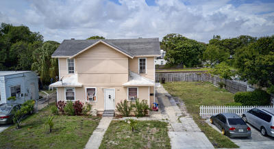West Palm Beach Multi Family Home For Sale: 3321 Pinewood Avenue #1